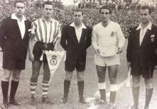 The first match at La Puentecilla (23/10/55 vs Athletic Club 1-3)