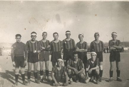 Club Deportivo Español at the Campo de la Estación in 1942